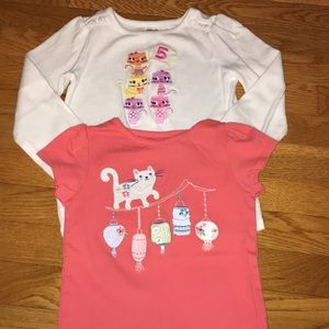 Gymboree 5t tee birthday age 5 cats